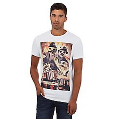 Red Herring - White meerkat print t-shirt