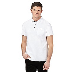 Red Herring - White textured striped polo shirt