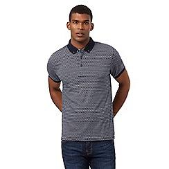 Red Herring - Navy square jacquard polo shirt