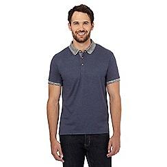 Red Herring - Blue geometric print polo shirt