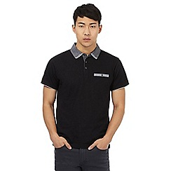 Red Herring - Black denim collar polo shirt