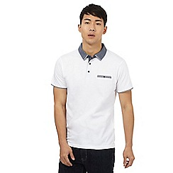 Red Herring - White denim collar polo shirt