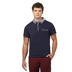 Red Herring - Navy contrasting collar polo top