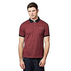 Red Herring - Red diamond patterned polo shirt