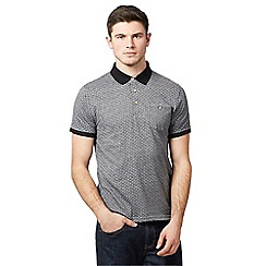 Red Herring - Grey diamond patterned polo shirt
