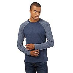 Red Herring - Blue space dye sleeved raglan top