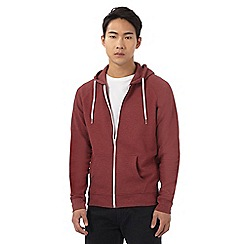 Red Herring - Dark red ribbed hoodie