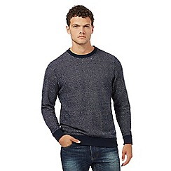 Red Herring - Navy textured crew neck jumper