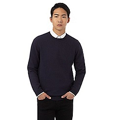 Red Herring - Big and tall navy crew neck jumper