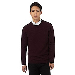 Red Herring - Big and tall dark purple crew neck jumper