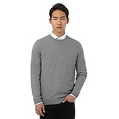 Red Herring - Big and tall light grey crew neck jumper