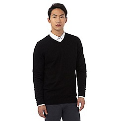 Red Herring - Black V neck jumper