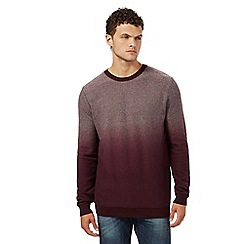 Red Herring - Dark red dip dye textured jumper