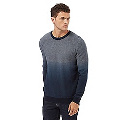 Red Herring - Navy dip dye textured jumper