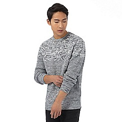Red Herring - Grey twist knit jumper with wool