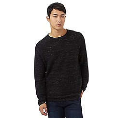 Red Herring - Long sleeve black space dye jumper