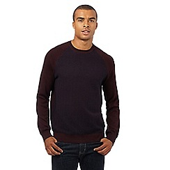 Red Herring - Dark red textured front panel jumper
