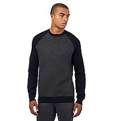 Red Herring - Navy textured front panel jumper