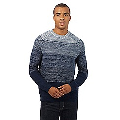 Red Herring - Navy ombre-effect twist knit jumper