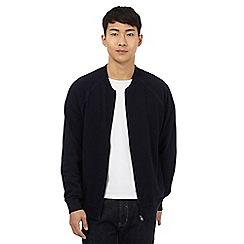 Red Herring - Navy zip through baseball jacket