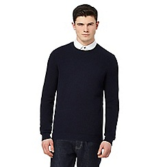 Red Herring - Navy textured jumper