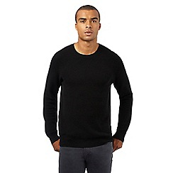 Red Herring - Black textured jumper