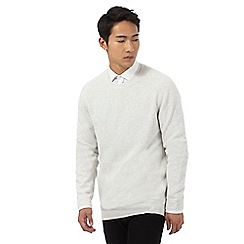 Red Herring - Off white textured jumper