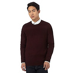 Red Herring - Dark red textured stripe jumper