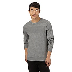 Red Herring - Grey textured stripe jumper