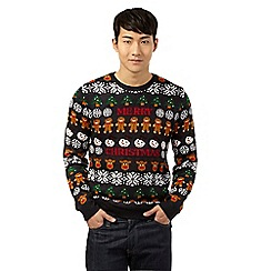 Red Herring - Navy 'Merry Christmas' print jumper