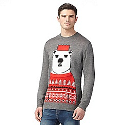 Red Herring - Grey polar bear print jumper