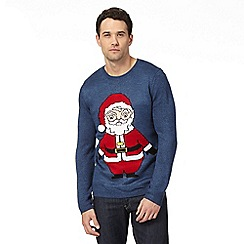 Red Herring - Blue 'Santa Claus' jumper