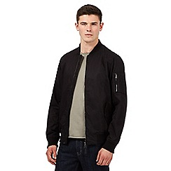 Red Herring - Black pocket detail bomber jacket