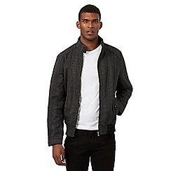 Red Herring - Grey checked print Harrington jacket