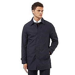 Red Herring - Navy concealed button mac coat