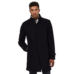 Red Herring - Navy Epsom coat with wool
