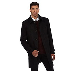 Red Herring - Black Epsom coat with wool