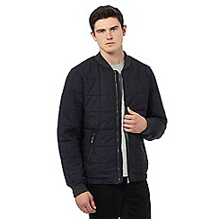 Red Herring - Navy quilted cotton bomber jacket