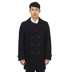 Red Herring - Navy wool button down coat