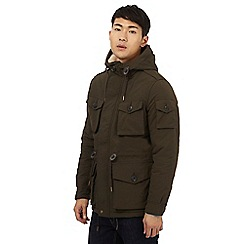 Red Herring - Khaki quilted hiker jacket