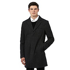 Red Herring - Grey wool button down peacoat