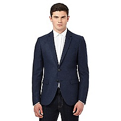 Red Herring - Navy neppy textured jacket