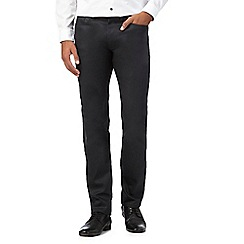 Red Herring - Big and tall dark grey coated slim trousers