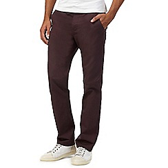 Red Herring - Dark purple slim fit chinos