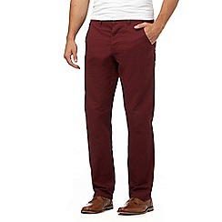 Red Herring - Dark red straight leg chinos