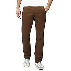 Red Herring - Dark brown straight fit chinos