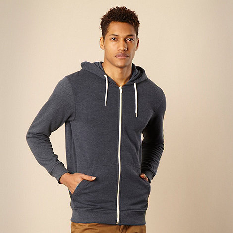 Red Herring - Navy zip through hoodie