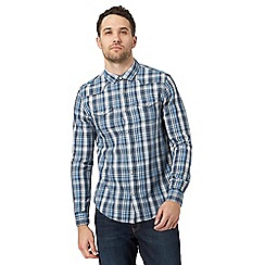 Red Herring - Big and tall blue checked button down shirt