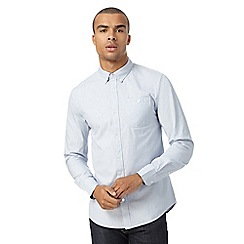 Red Herring - Big and tall navy grindle stripe shirt