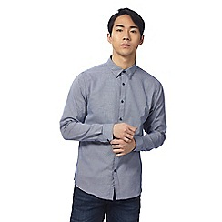 Red Herring - Blue dogtooth slim fit shirt